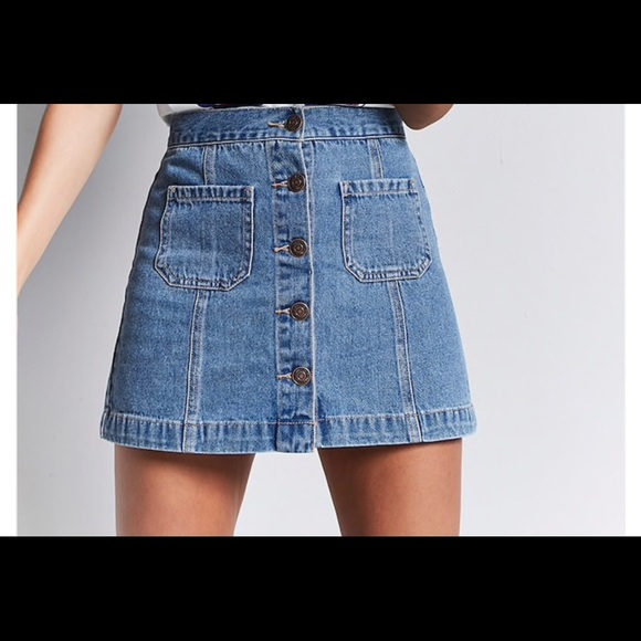 a3cd08f33f Forever 21 Button Front Denim Skirt Extra Large XL.  M_5a9d5f1985e605e615f5a0d0